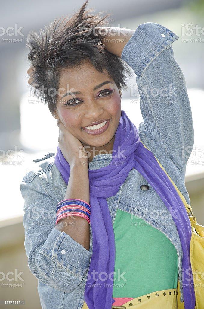 Fashion City Woman royalty-free stock photo