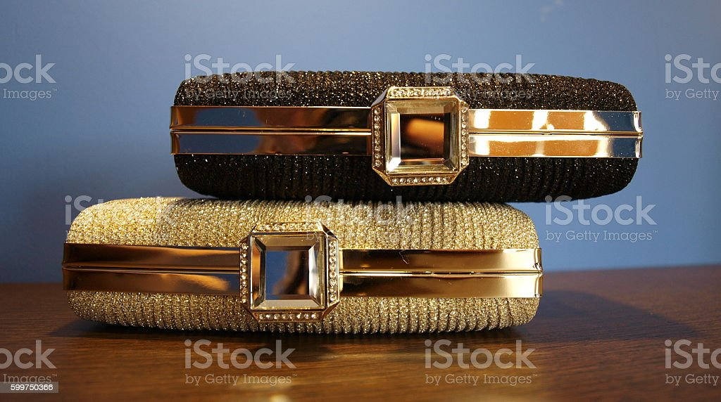 fashion clutch bags for women stock photo