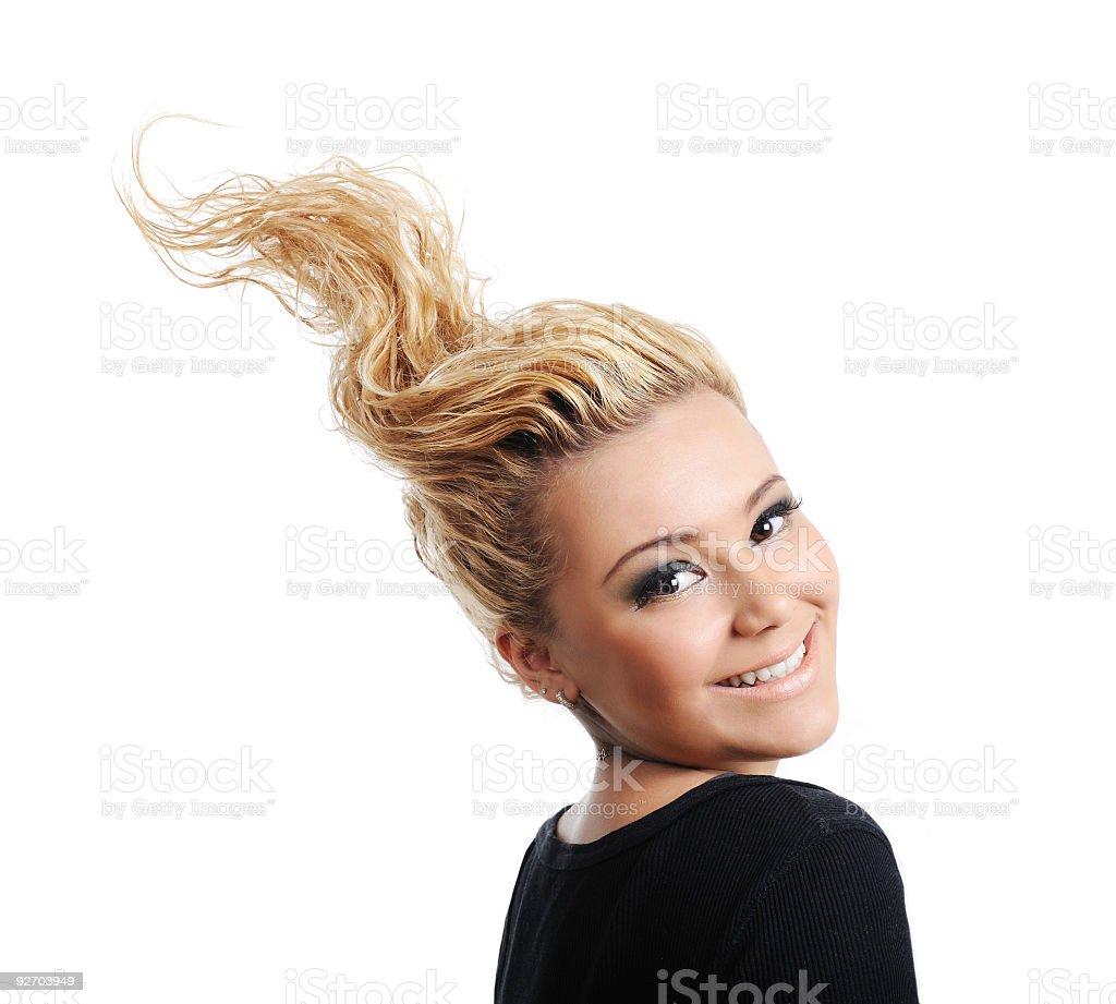 Fashion design hairstyle stock photo