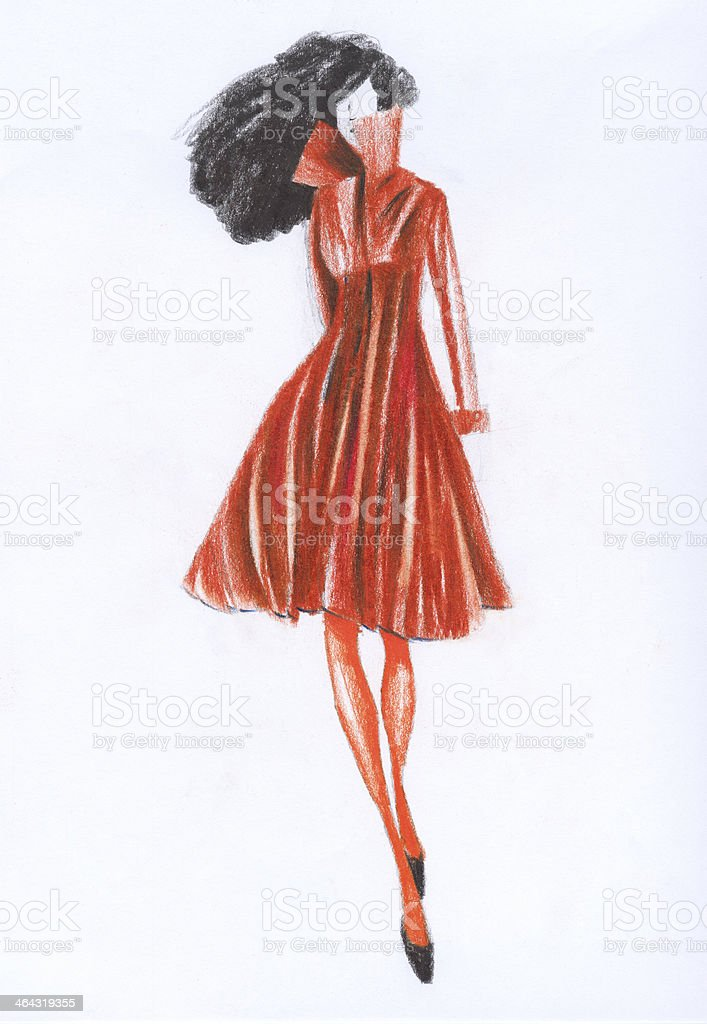 Fashion Design Sketch stock photo