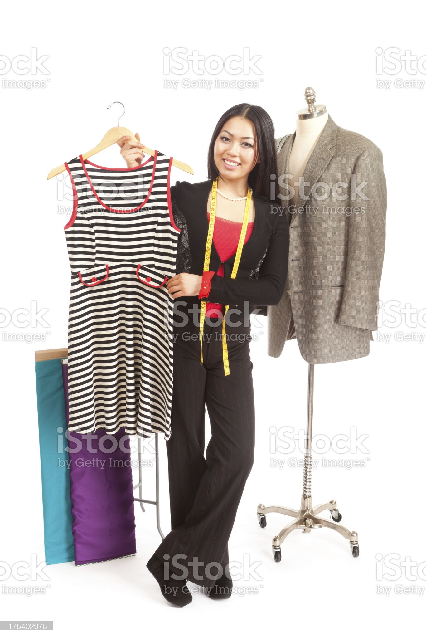 Fashion Designer and Tailor royalty-free stock photo