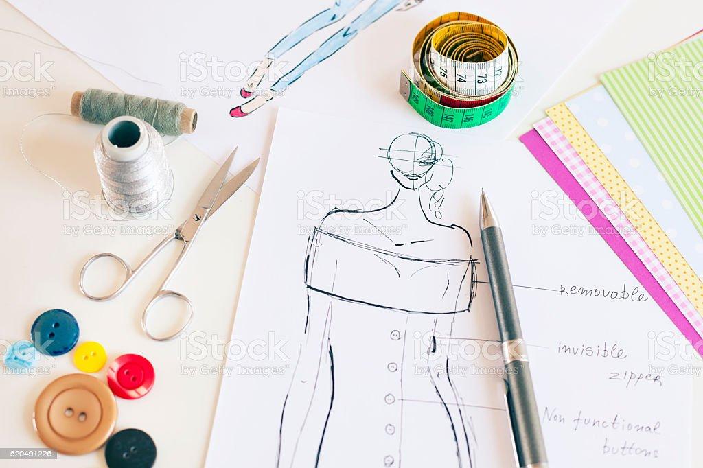 Moda dise ador dibujos stock foto e imagen de stock - Disenador de fotos ...