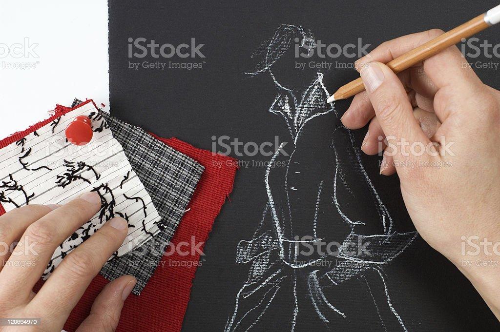 Fashion designer royalty-free stock photo