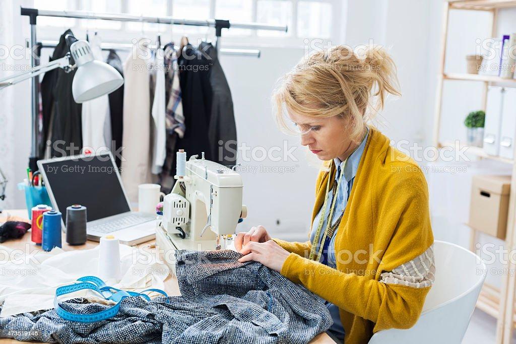 Fashion designer- tailor stock photo