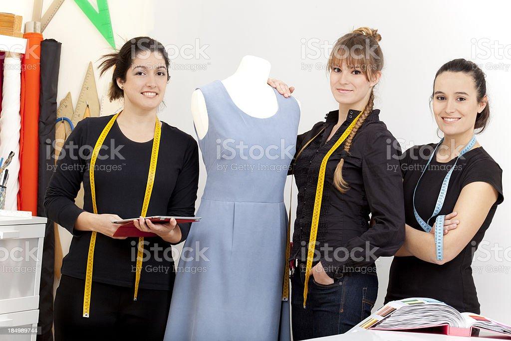 fashion designer team royalty-free stock photo