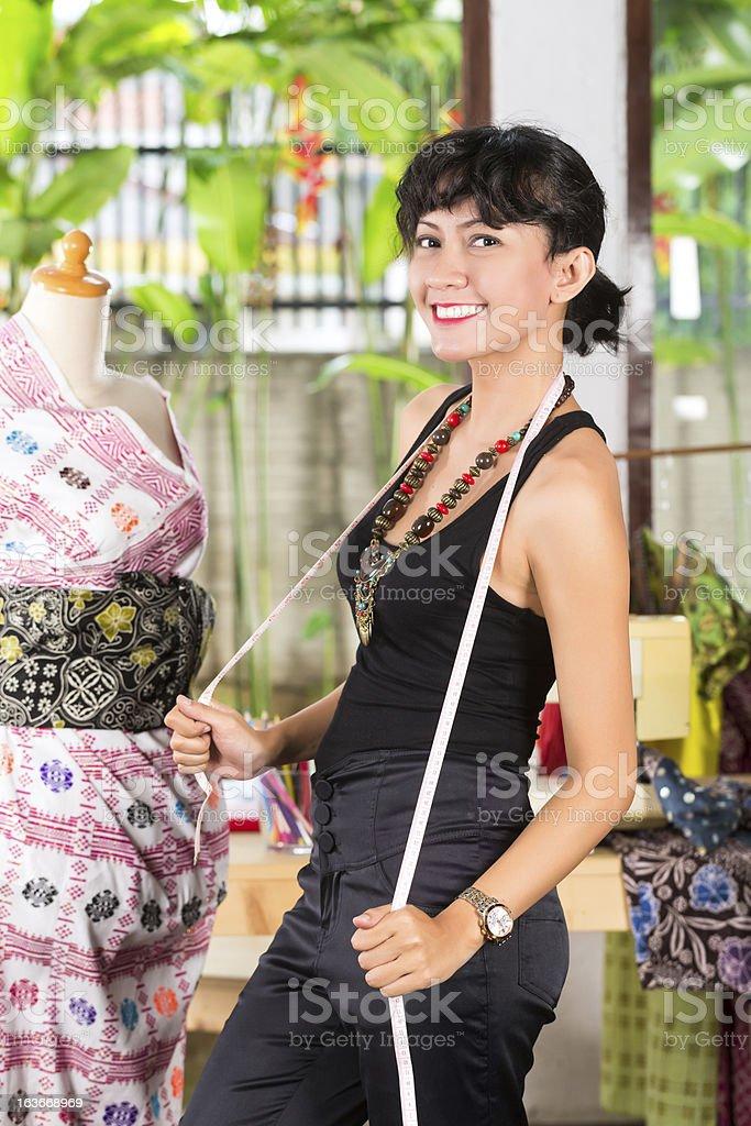 Fashion designer working at home royalty-free stock photo