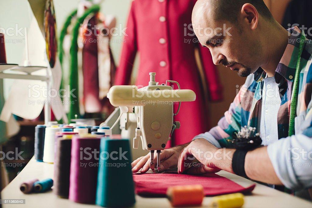 Fashion designer working stock photo