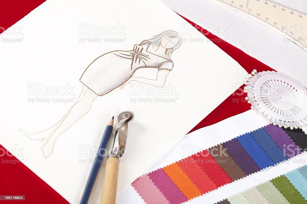 fashion designers drawing stock photo