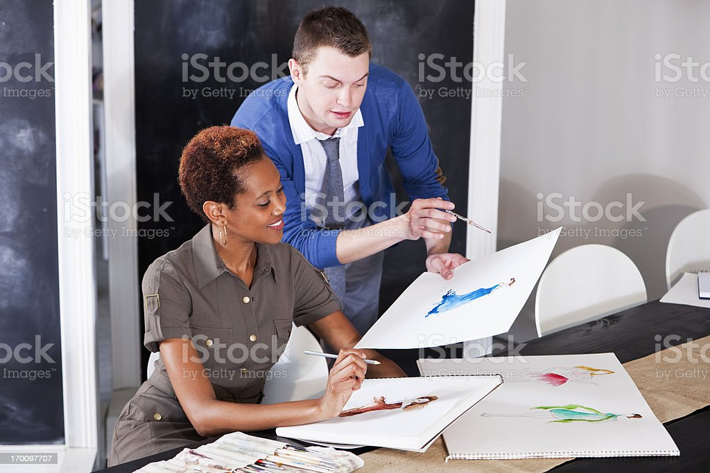 Fashion designers stock photo