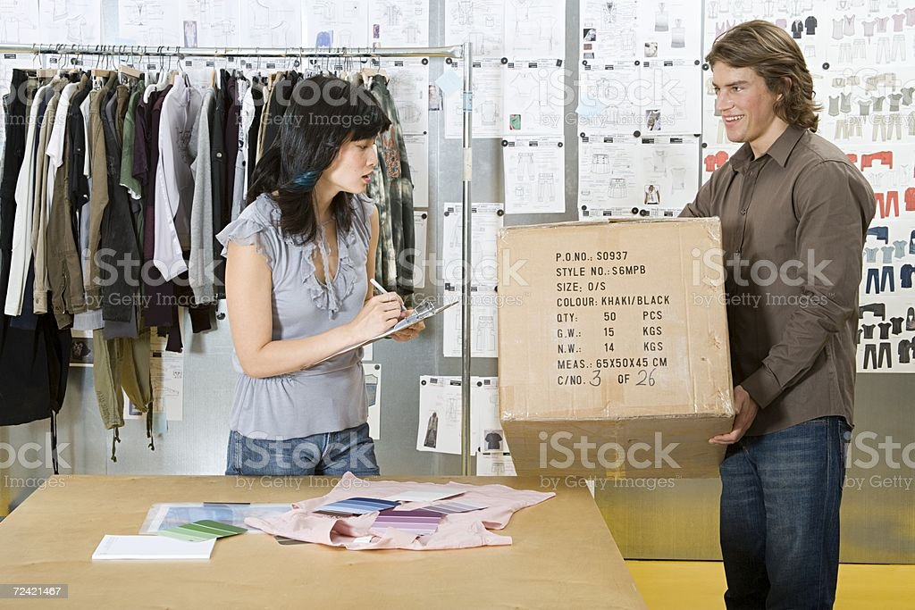 Fashion designers working royalty-free stock photo