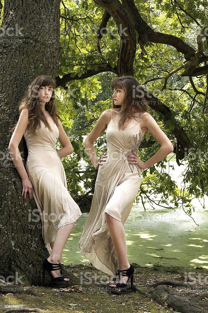 Moda letti matrimoniali foto stock royalty-free