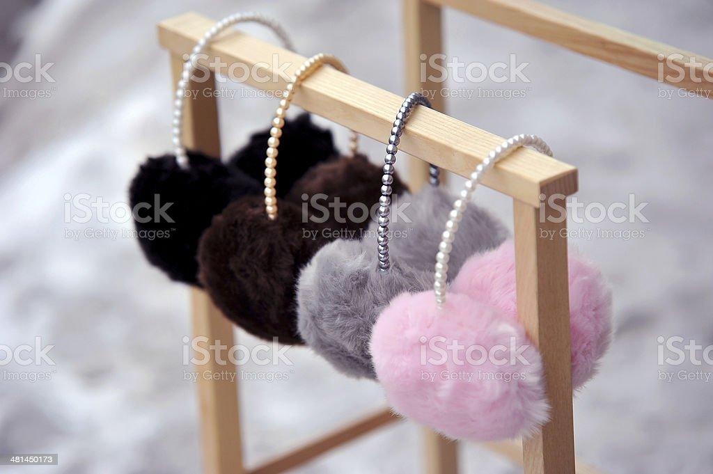 Fashion ear muffs stock photo