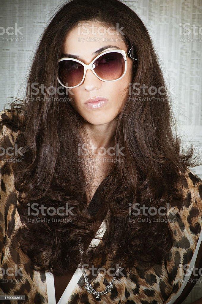 Fashion Eighties Model royalty-free stock photo