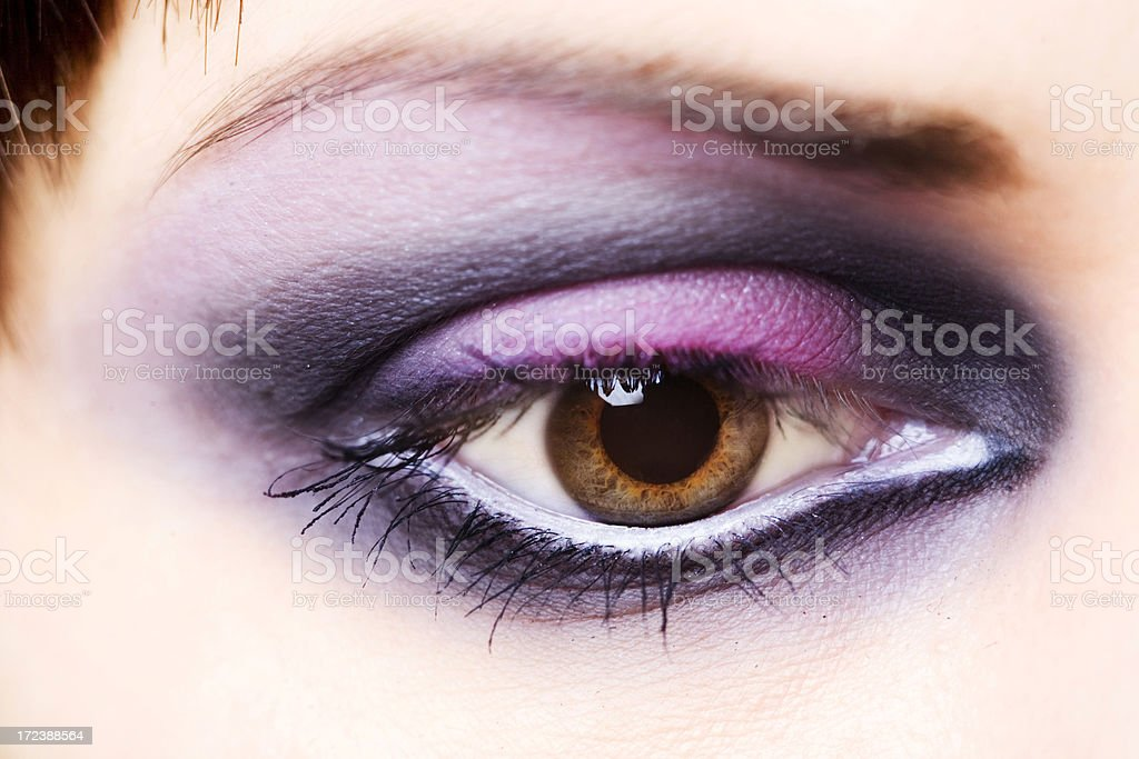 fashion eye make-up close-up royalty-free stock photo