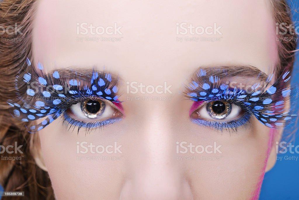 fashion eye make-up stock photo
