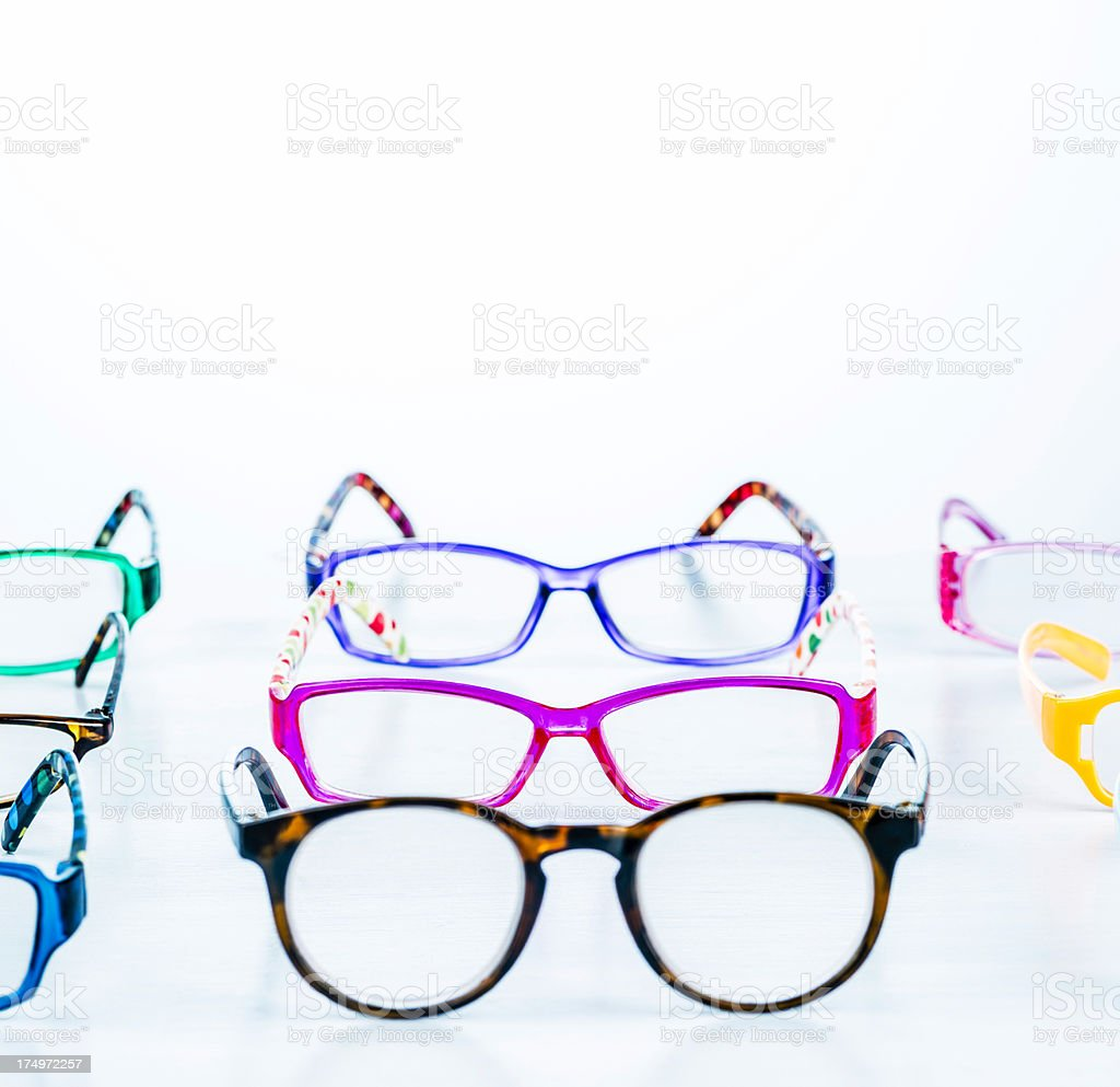 Fashion Eyeglasses with Copyspace royalty-free stock photo