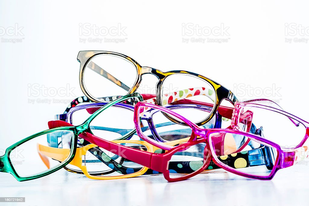 Fashion Eyeglasses with Copyspace stock photo