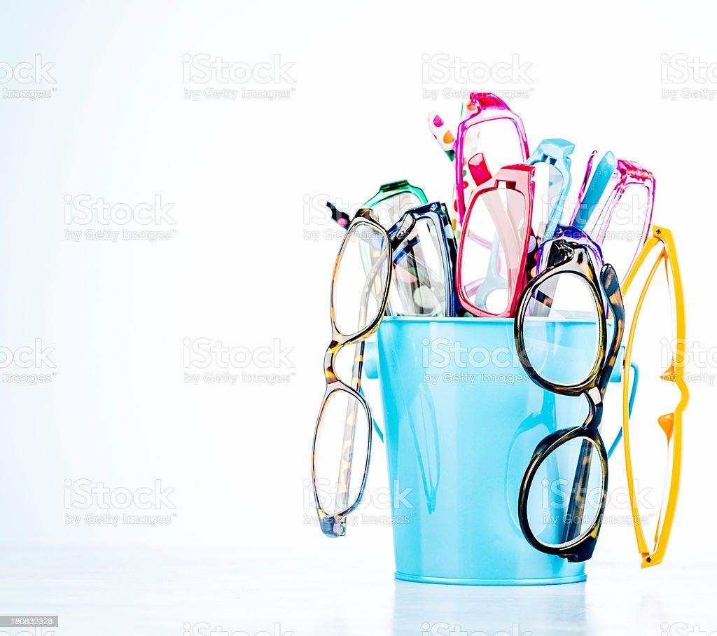 Fashion Eyeglasses with Copyspace royalty-free stock photo
