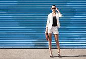 Fashion female model posing