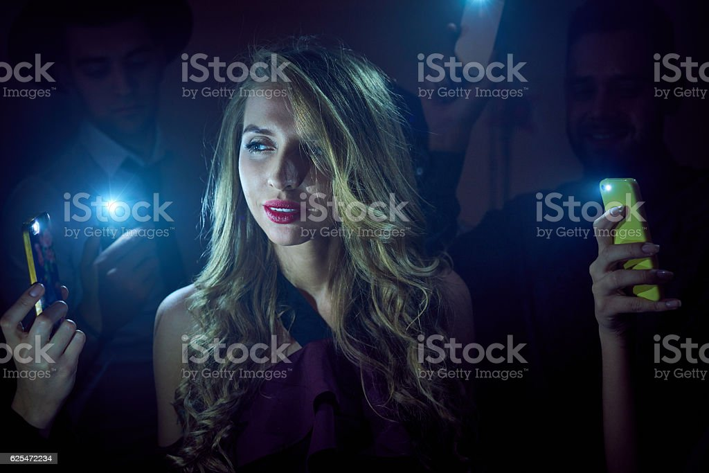 Fashion girl in nightclub stock photo