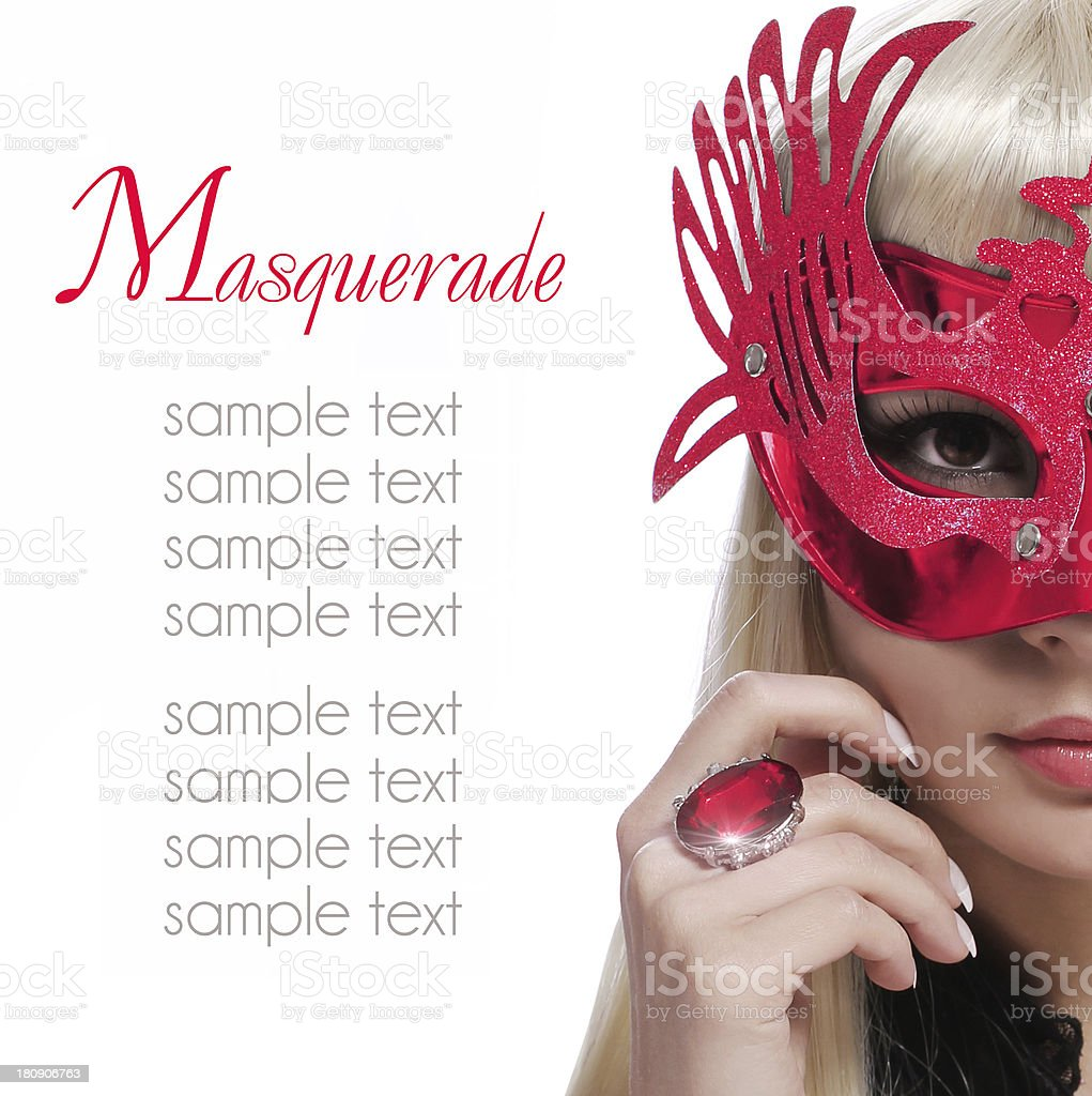 fashion girl with carnival mask. Halloween. Masquerade. royalty-free stock photo