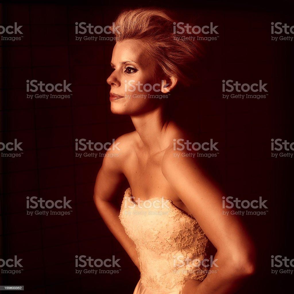 Fashion Grunge Profile stock photo