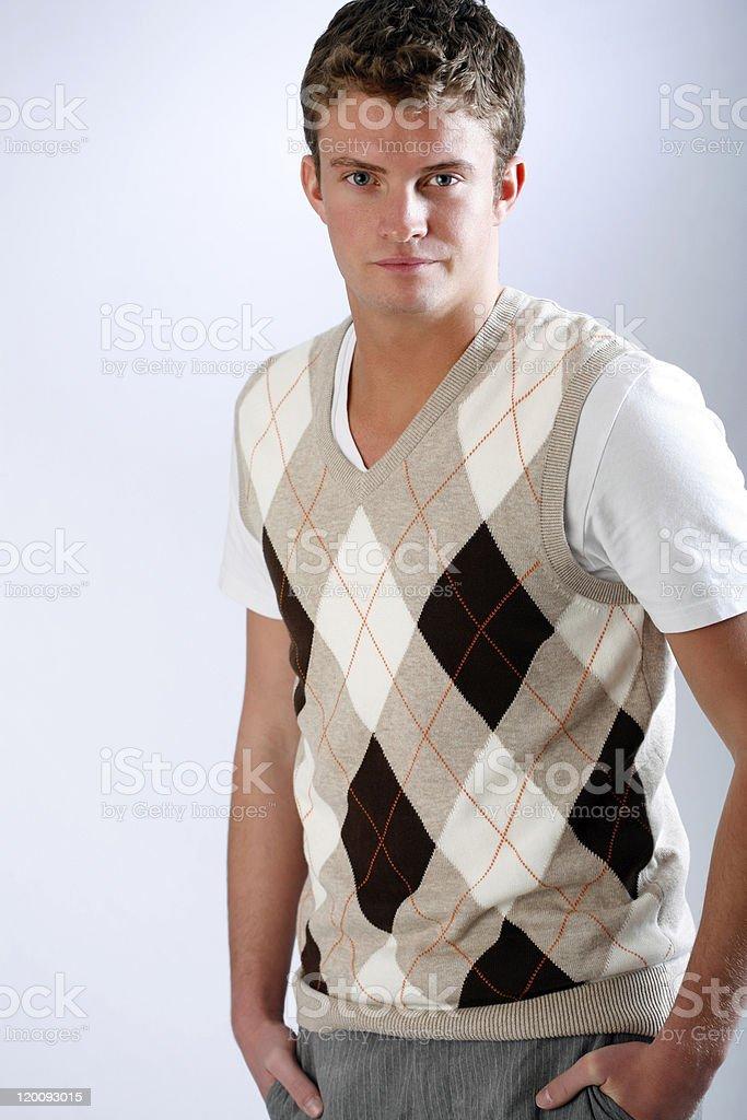 Fashion guy stock photo
