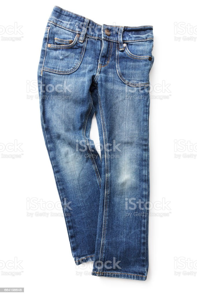 Fashion: Jeans Isolated on White Background stock photo