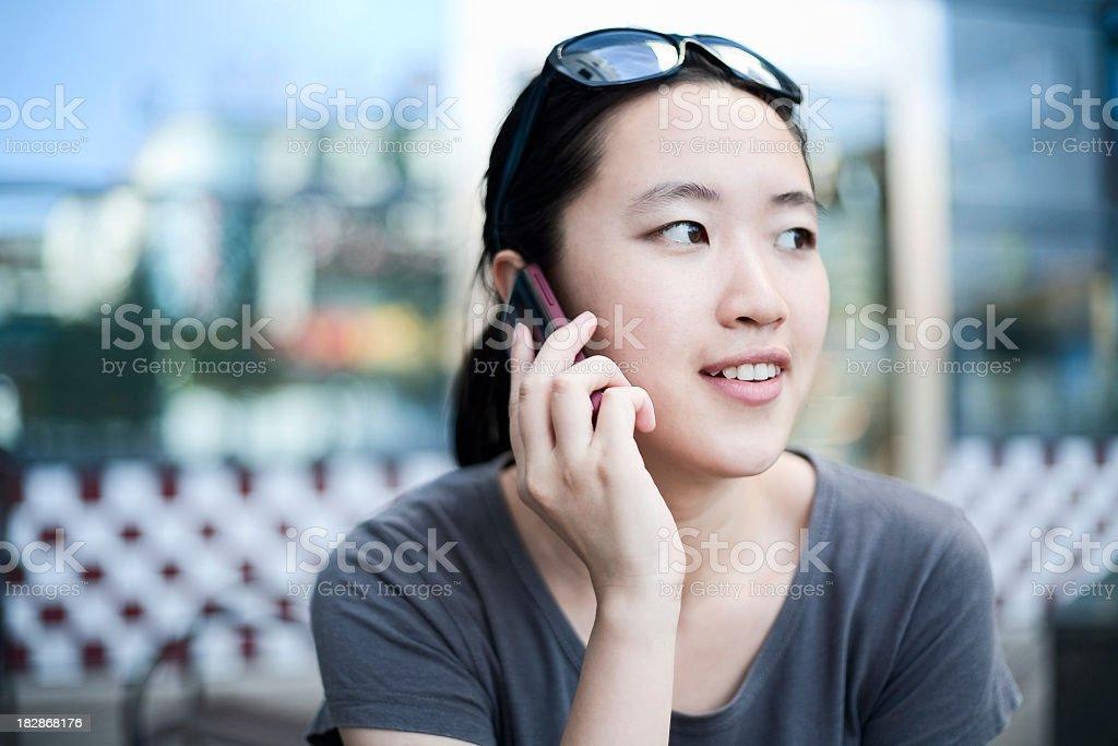 Fashion lady on the phone royalty-free stock photo