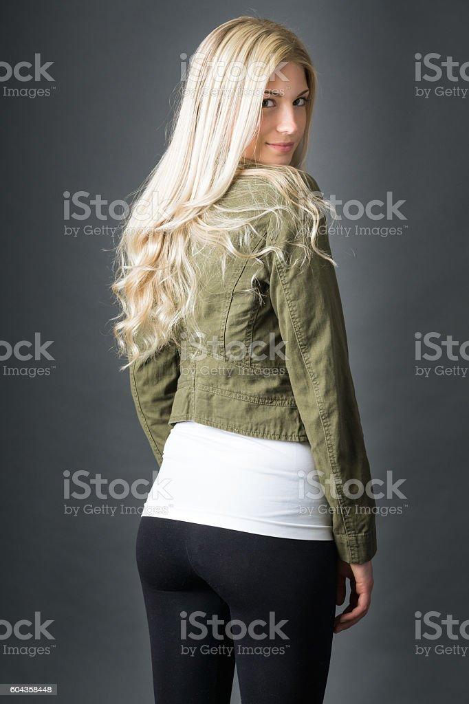 Fashion leggings backside stock photo