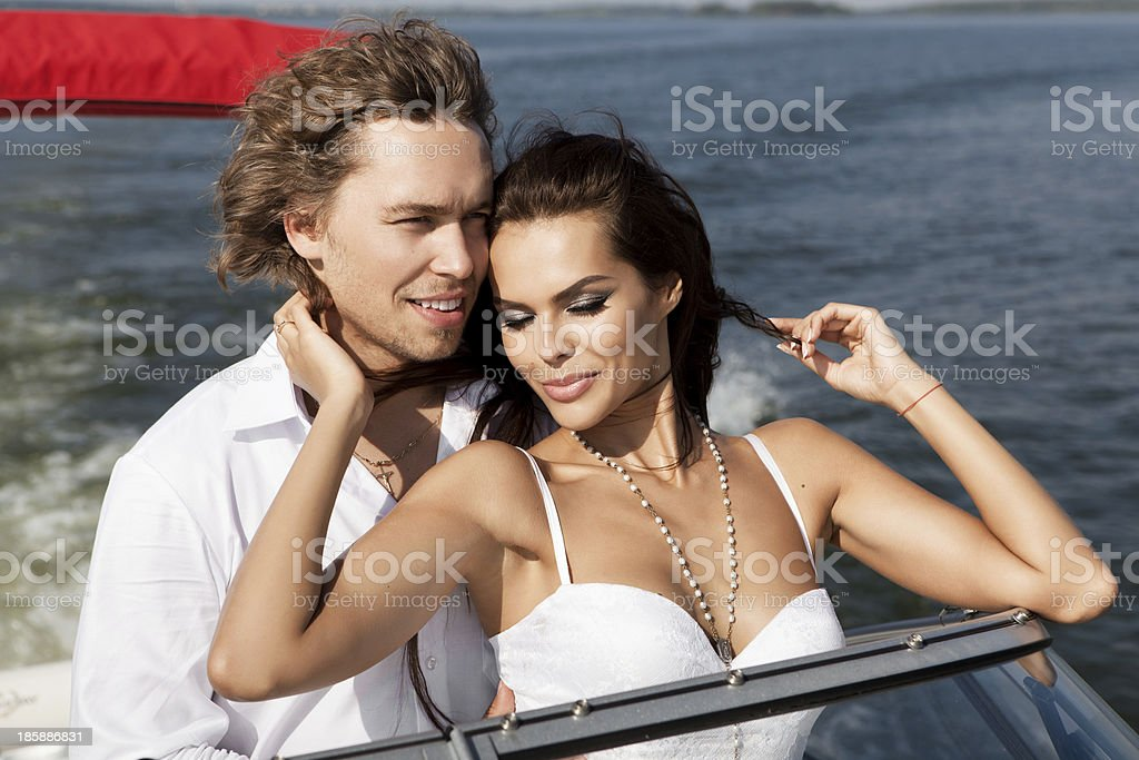 Fashion lovely beautiful couple royalty-free stock photo