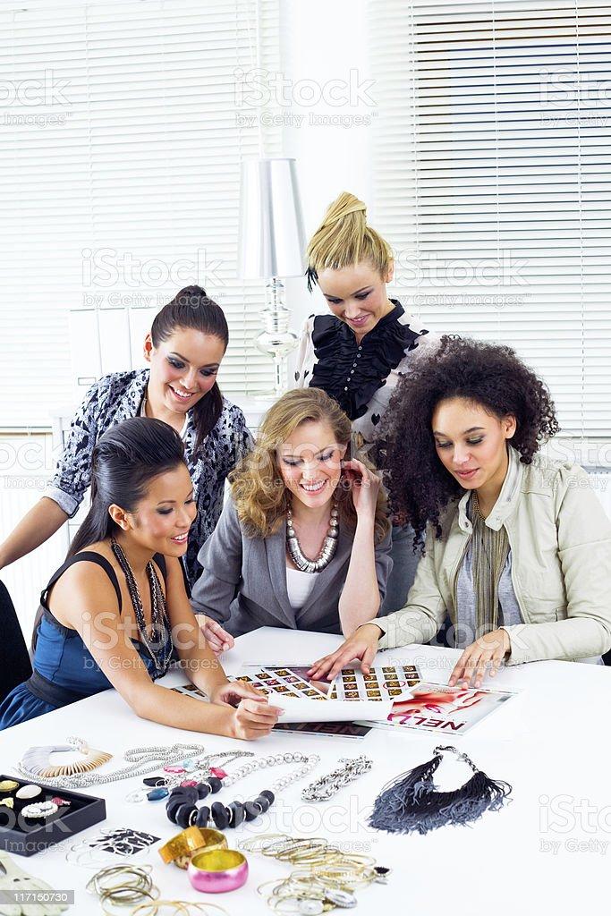 Fashion Magazine editorial team royalty-free stock photo