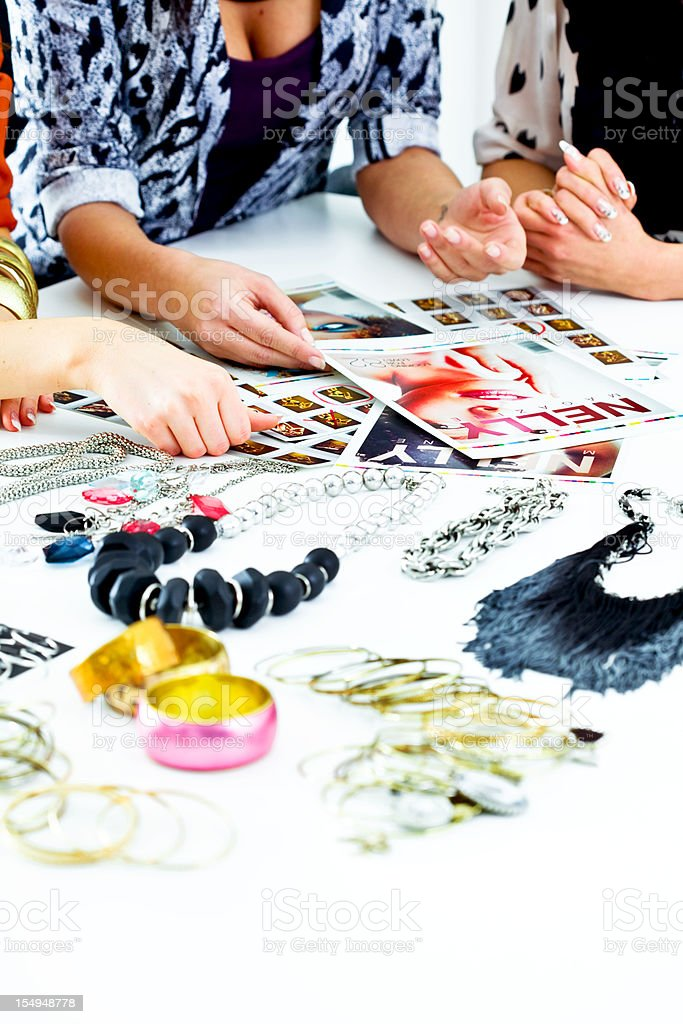 Fashion Magazine meeting royalty-free stock photo