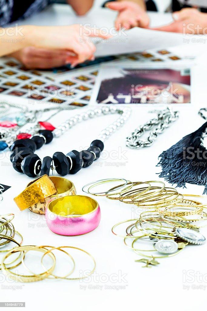 Fashion Magazine meeting stock photo