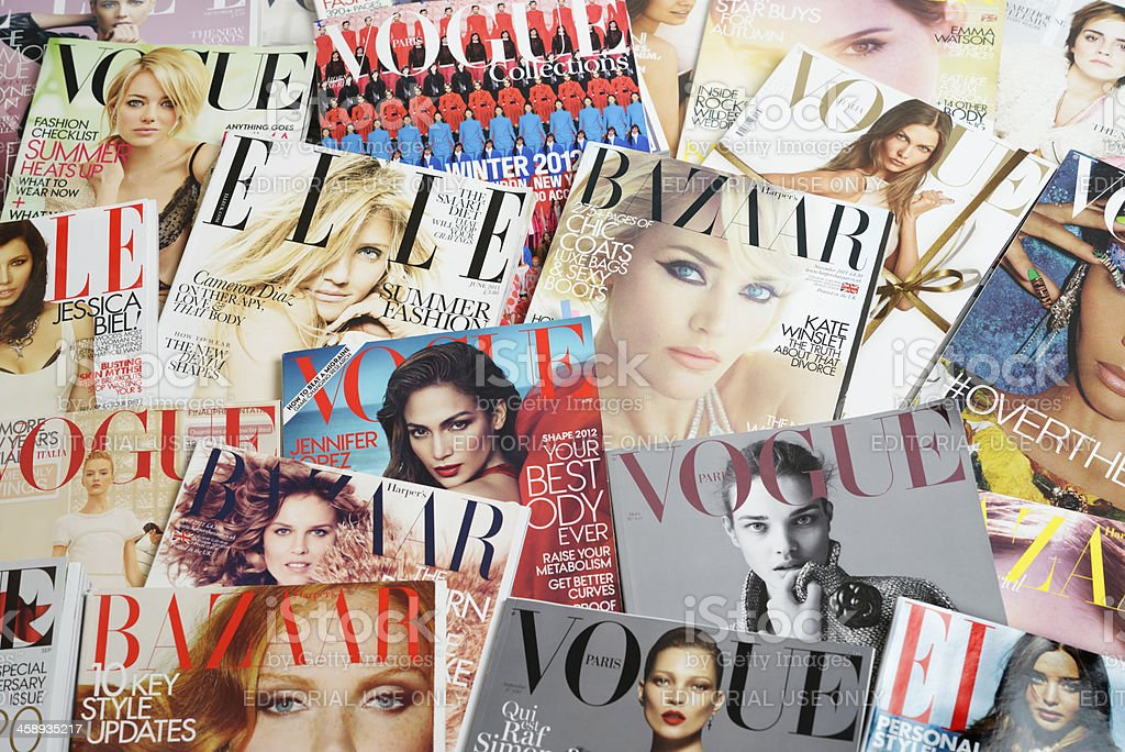 Fashion Magazines stock photo