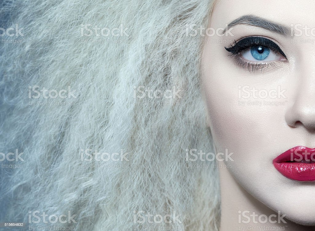 fashion, makeup, beauty stock photo