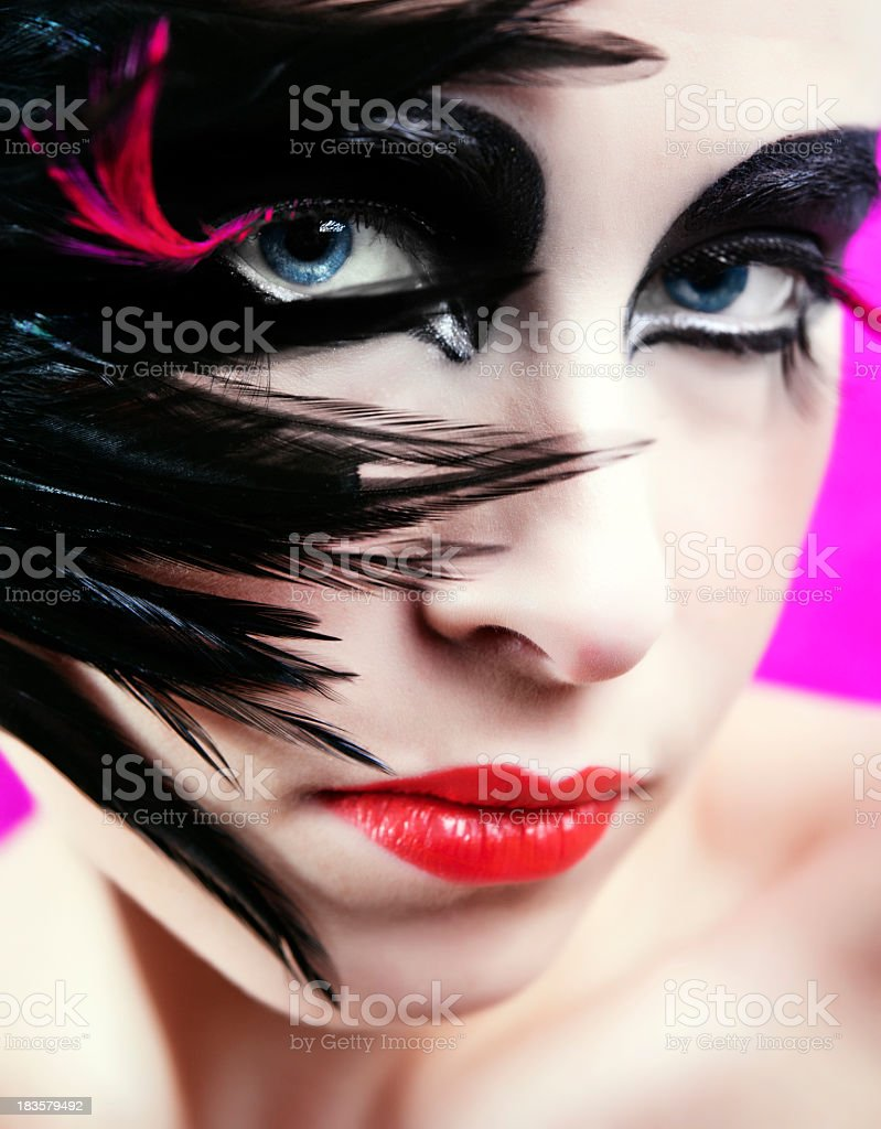 fashion make-up royalty-free stock photo