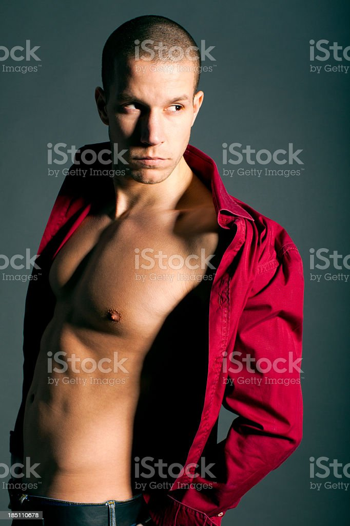 Fashion male model royalty-free stock photo