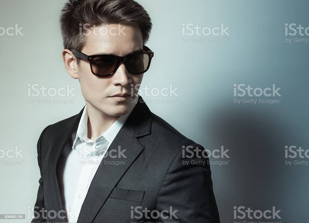 Fashion male model portrait stock photo