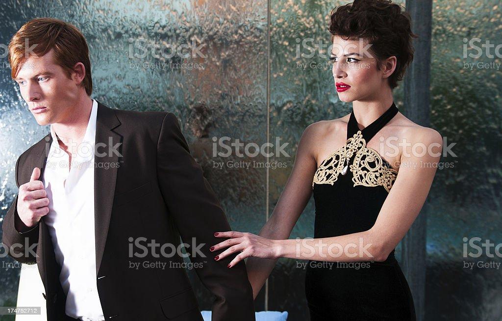 Fashion man and woman royalty-free stock photo