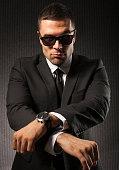 Fashion man dance Gangnam style