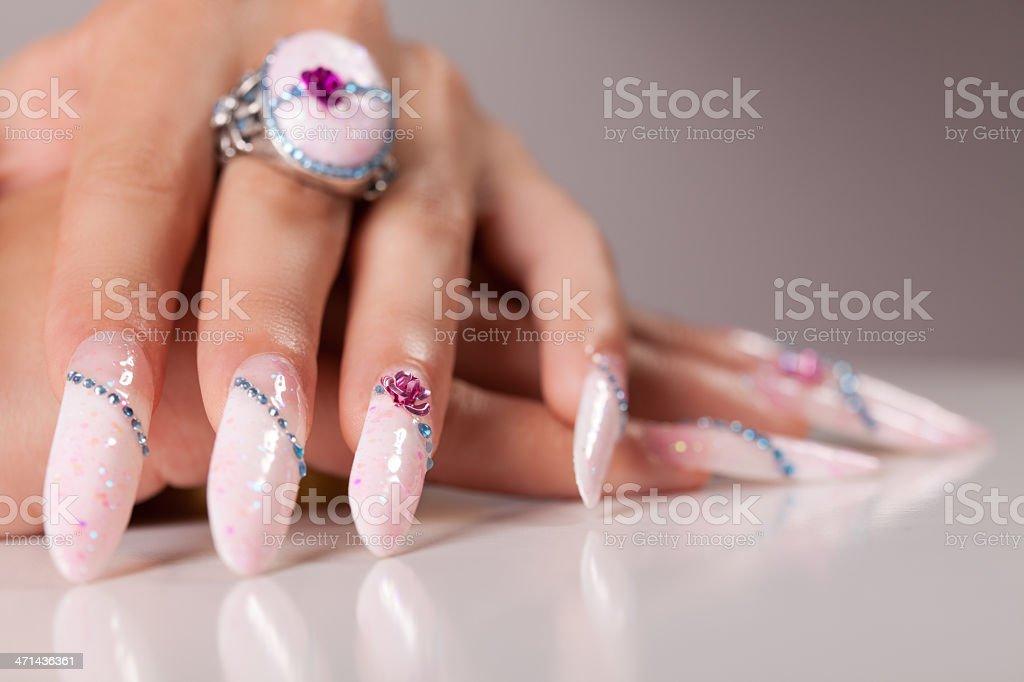 Fashion manicure stock photo
