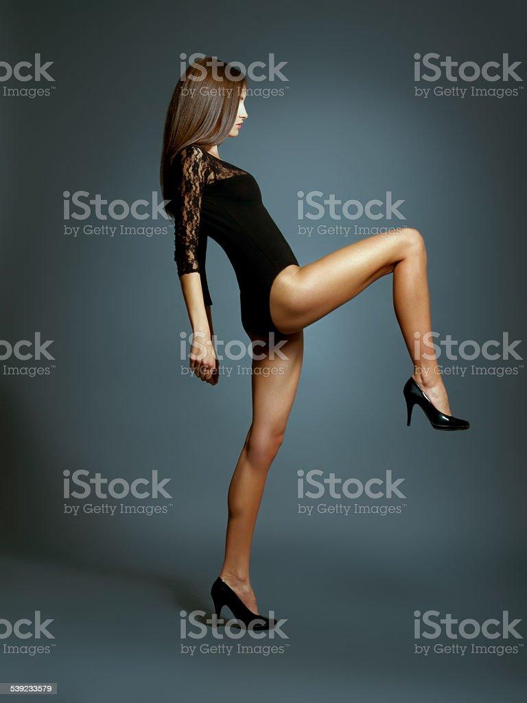 Fashion marching forward stock photo