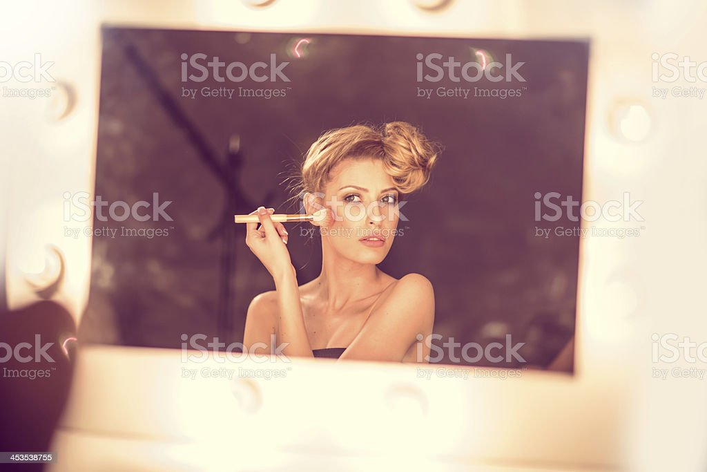 Fashion model backstage royalty-free stock photo