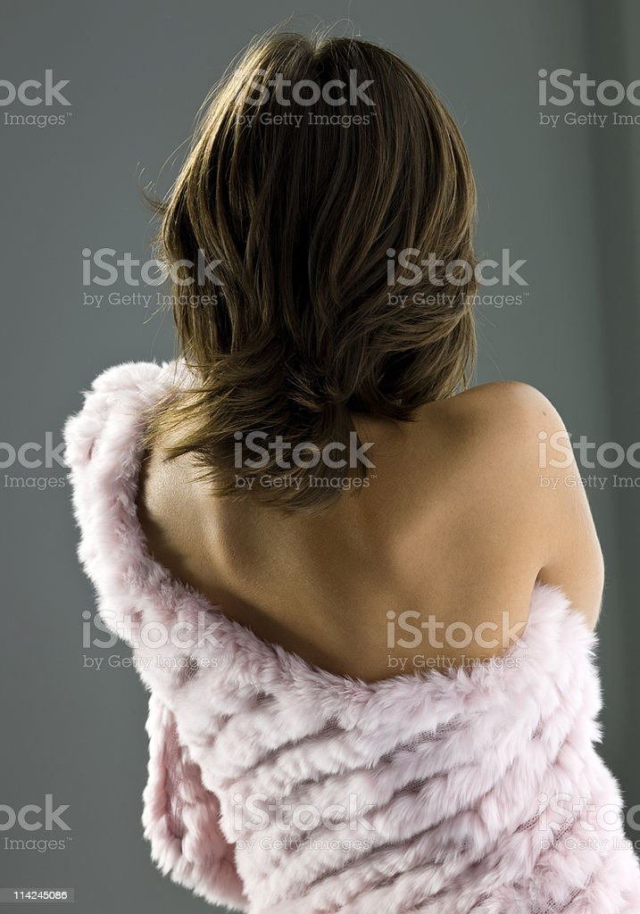 Fashion Model from behind royalty-free stock photo