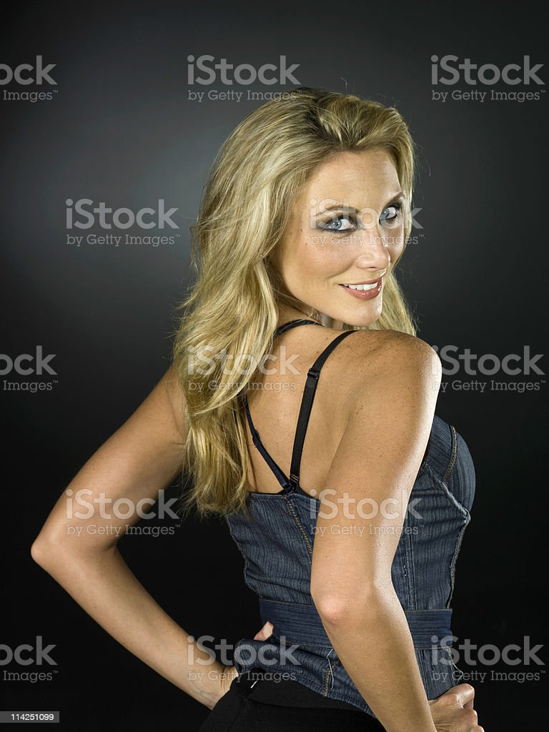 Fashion model from behind stock photo