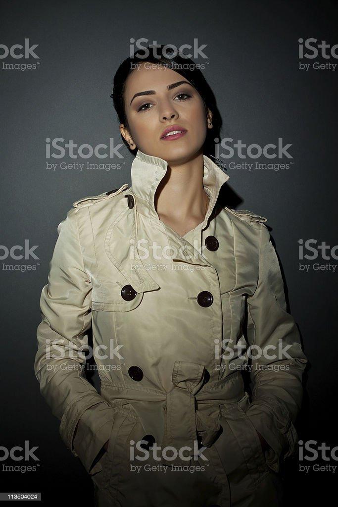 fashion model in autumn/winter clothes stock photo