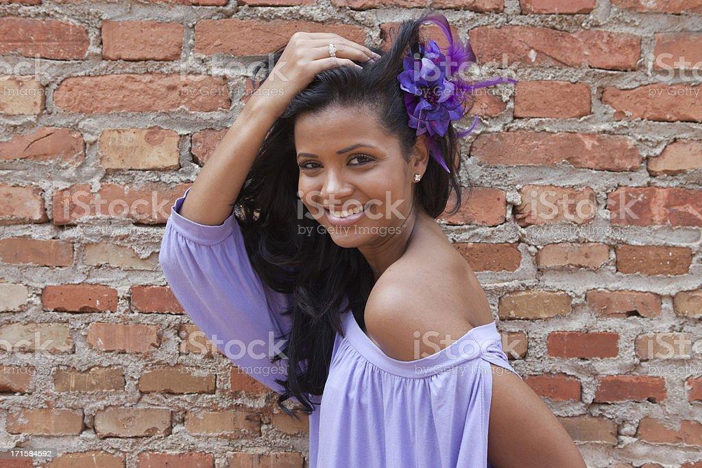 Fashion Model in Cuba stock photo