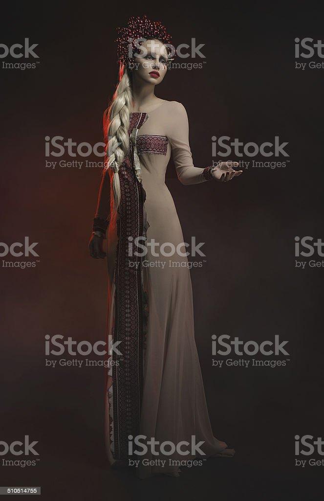 Modelo de moda en estudio foto de stock libre de derechos