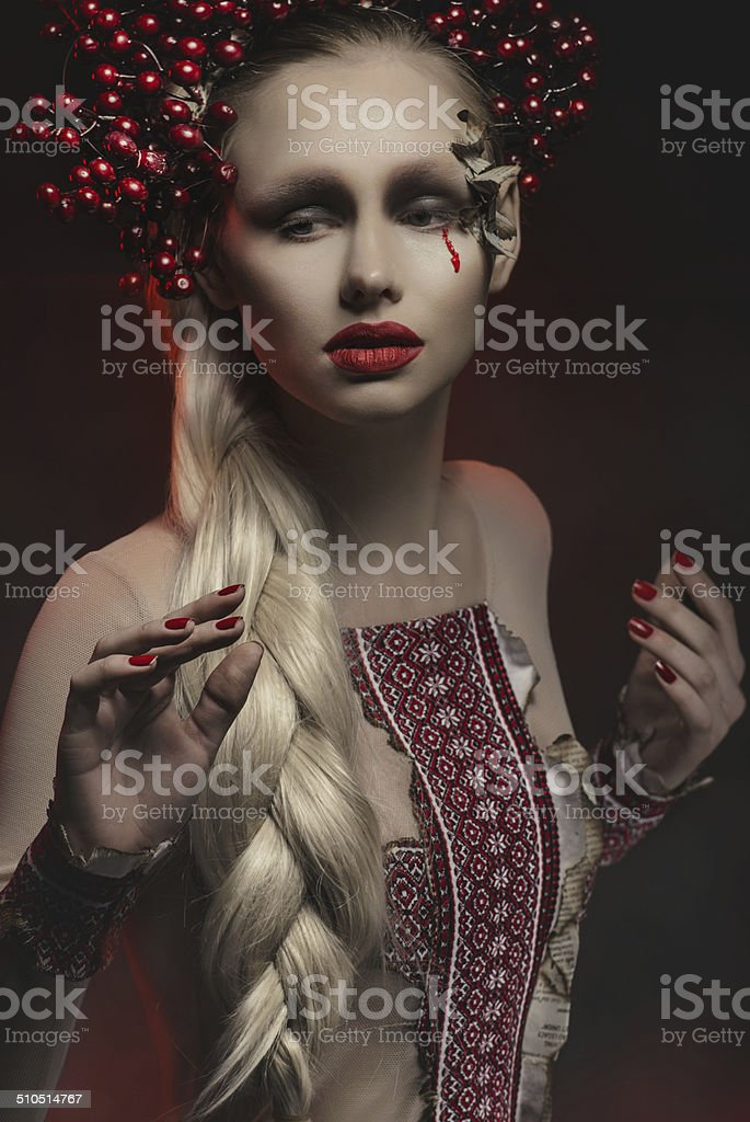 Fashion model in studio royalty-free stock photo